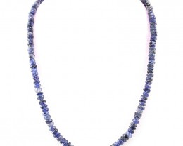 176 cts Iolite Beads Necklace of 20""