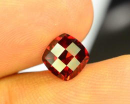1.80 ct Natural Laser Cut Red Rhodolite Garnet