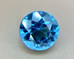 1.55 Crt Natural Blue Topaz Faceted Gemstone (930)