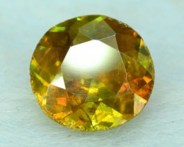 1.20 ct Round Cut Shape Full Fire Sphene titanite From Skrdu Paksitan