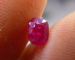 0.74cts Natural Pigeon Blood Red Burmese Ruby , Untreated Gemstone