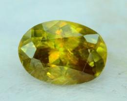 1.55 ct Oval Cut Shape Full Fire Sphene titanite From Skrdu Paksitan