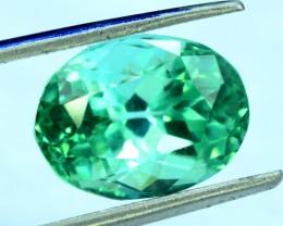 6.65 ct Oval Shape cut Lush Green Spodumene Gemstone From Afghanistan (R)