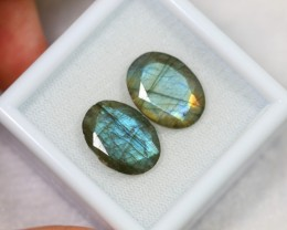 Lot 14 ~ 13.77Ct Natural Blue Color Flash Labradorite