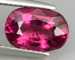 3.00 CTS NATURAL RUBELITE TOURMAILNE PINK OVAL SHAPE POPULARGEMS