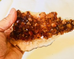 .978 Kilo Deep dark beautiful  hue Citrine specimen CIT2