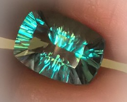 4.38ct Delightful Mint Blue Green Fluorite Concave Cut - No Reserve auction