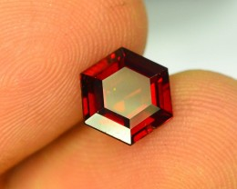 2.30 ct Natural Laser Cut Red Rhodolite Garnet