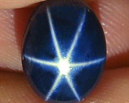 6.09 Carat Blue Star Sapphire - Gorgeous