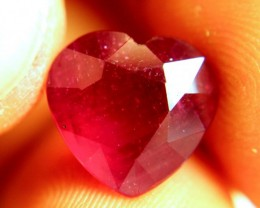 Gorgeous & Well cut Ruby Heart - Perfect for Jewellery