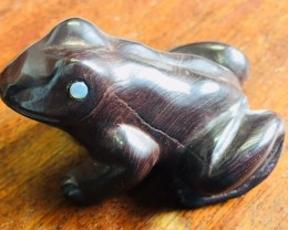 450 Cts ironstone carving  Frog PPP 2024