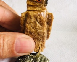 695 Cts  largePeru carving  Owl PPP 2027
