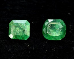 1.85 cts Natural Emerald Gemstones Pair From Afghanistan