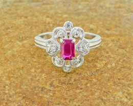 Natural Ruby 925 Sterling Silver Ring SIZE6 (SSR0036)