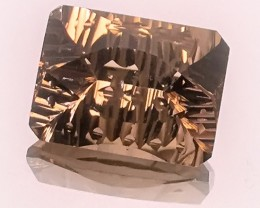 21.24ct SPECIAL FANCY USA CUT SMOKY QUARTZ - AMAZING