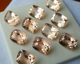 29.15 cts Exclusive Lustrous Peach-Pink Morganite Beauiful Color Brazil