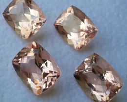 15.90 CTS STUNNING LUSTROUS BRAZIL NATURAL PEACH-PINK MORGANITE
