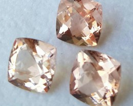8.65 CTS STUNNING LUSTROUS BRAZIL NATURAL 9MM PEACH-PINK MORGANITE