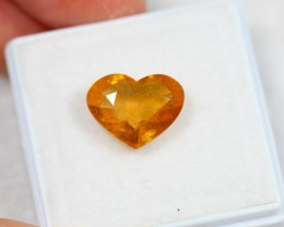 NR Lot 12 ~ 4.13Ct Natural Ceylon Yellow Sapphire Heart Cut
