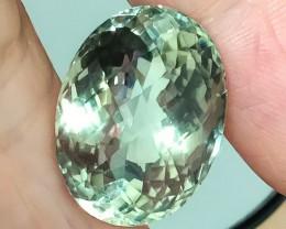 23.41ct. Top Sparkling Green Amethyst (Prasiolite) - Jewellery grade gem 3.