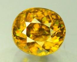 Certified Top Fire 2.20 ct Natural Titanite Sphene