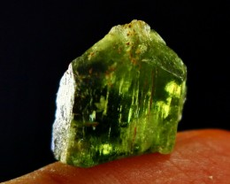 17.60 CT Natural - Unheated Green Color Diopside Crystal