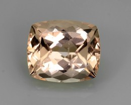 8.65 Cts EXCELLENT NATURAL LUSTER-PEACH PINK MORGANITE GEM
