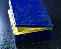 159 CT Natural lapis lazuli Carved Box Stone Special Shape