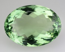 31.42 Cts Natural Prasiolite (Green Amethyst) Oval Brazil