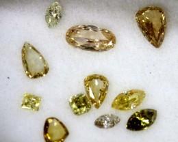 1 CTS YELLOW  DIAMONDS PARCELS 12PCS SD- KOA-3