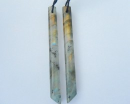 Hot Sale,Natural Flashy Labradorite Long Dangle Earrings For Women,Fashion