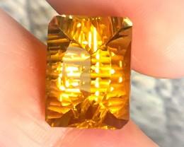 11.80ct Super Sparkling Yellow Gold Natural Citrine NR Custom cut