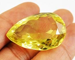 Genuine Lemon Quartz Pear Shaped gem