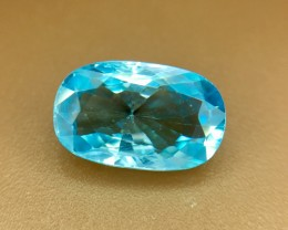 3.0 Crt Natural Blue Zircon Faceted Gemstone (R 122)