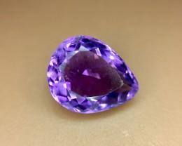 4.25 Crt Natural Purple Amethyst Faceted Gemstone (R 122)