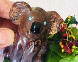 .290 kilo Cute australian  opal Koala carving PPP 2036