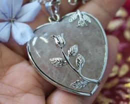 Lovers Crystal  Heart Pendant SU 29