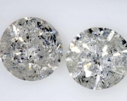 2.03 CTS WHITE DIAMOND FACETED SD- KOA-7