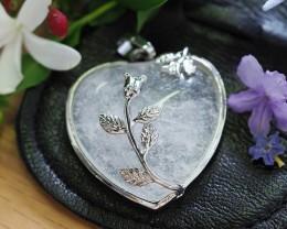 Lovers Crystal  Heart Pendant SU 39