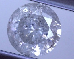 ---certified--- 1.133 CTS WHITE DIAMOND FACETED SD- KOA-11