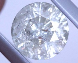 ---certified--- 1.625 CTS WHITE DIAMOND FACETED SD- KOA-12