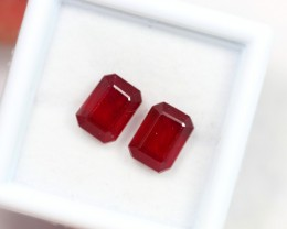 Lot 04 ~ 4.87Ct 8x5mm Natural VS Clarity Blood Red Color Ruby