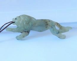 New Design,Natural Labradorite Handcarved Howling Lion Necklace Pendant(180