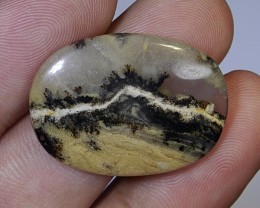28.00 CT UNTREATED Natural Beautiful Abstract Motiff Picture Jasper Gemston