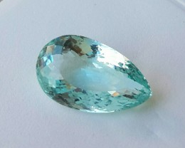 7.10 Cts HUGE STUNNING NATURAL NICE AQUAMARINE PEAR NR!!