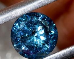 ---certified--- 1.010 CTS BLUE DIAMOND CABOCHON CRYSTAL SD- KOA-38