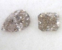 0.35 CTS GREY WITH VERY LIGHT PINK UNDERTONES (2PCS) SD- KOA-35