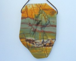 Artcraft,Sexy Naked Women Pendant,Natural Muti Color Picasso Jasper Carved