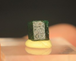 Rare Double Terminated Swat Emerald Crystal For Collector's Gem
