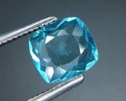 1.36 Cts Neon Blue Apatite ~ Insanity ~ Brazilian ~ Untreated Kj68